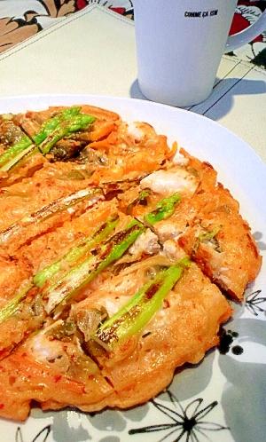 韓国高菜キムチで♪ささみのヘルシーチヂミ♪