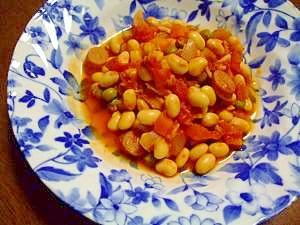 大豆の水煮から作る! ツナと大豆のトマト煮込み