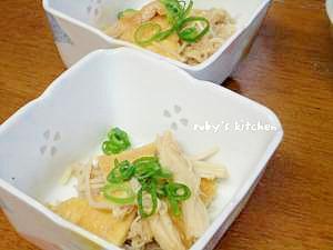 小鉢レシピ◇えのきと薄揚げのじゃこポン酢