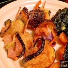 茄子と鶏肉のくるっとジューシィ天ぷら