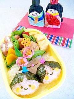 簡単キャラ弁☆ひな祭り弁当