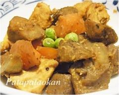 ムネ肉と根菜の味噌マヨネーズ炒め