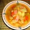 これ一品で朝食 ひよこ豆入り具沢山スープ