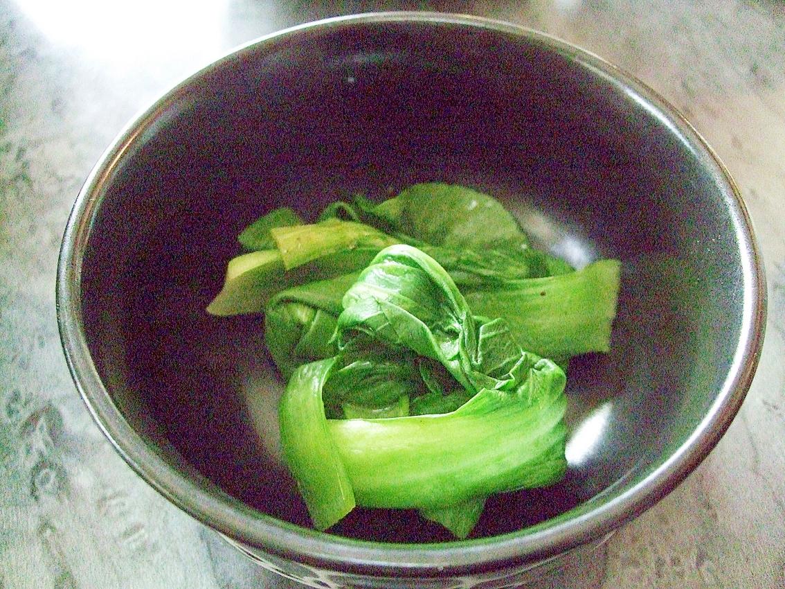 簡単!超早副菜☆チンゲンサイのオイスターソース蒸し