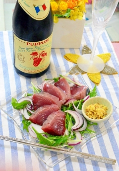 シャキシャキ水菜と玉ねぎの♪鰹の☆ポン酢生姜サラダ