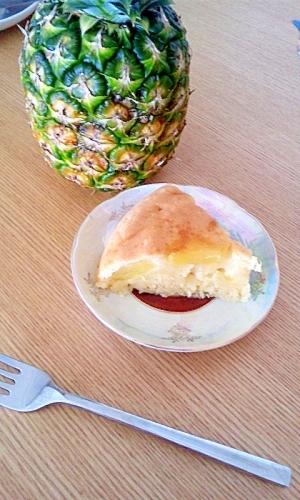 炊飯器でパイナップルケーキ☆