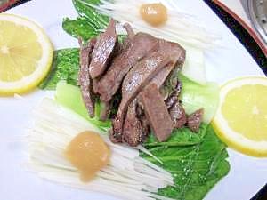 おつまみ100 48)塩ダレで専門店の牛タン焼
