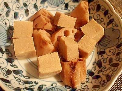 ルクルーゼで♪高野豆腐と蓮根の煮物
