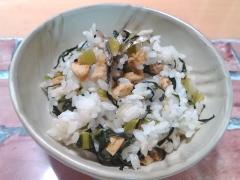 ★小松菜と油揚げとちりめんじゃこの混ぜご飯★