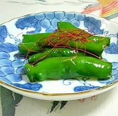 万願寺唐辛子の炒め物