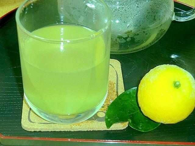 柚子JAMと緑茶のカクテル風