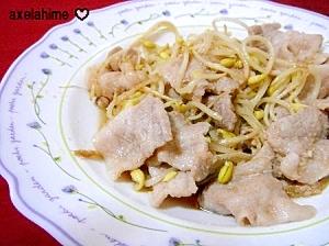 放置5分☆塩麹の豚薄切り肉と豆もやし炒め