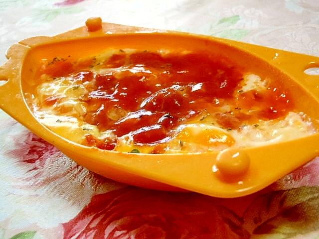 クイックオムレツdeナポリタンなチーズオムレツ