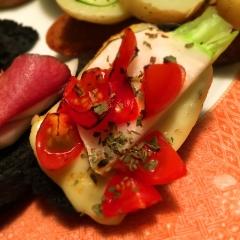 焼き蕪&トマトのイタリアンカナッペ