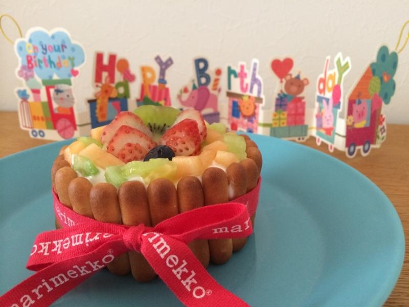 1歳のお誕生日☆水切りなしの簡単ケーキ