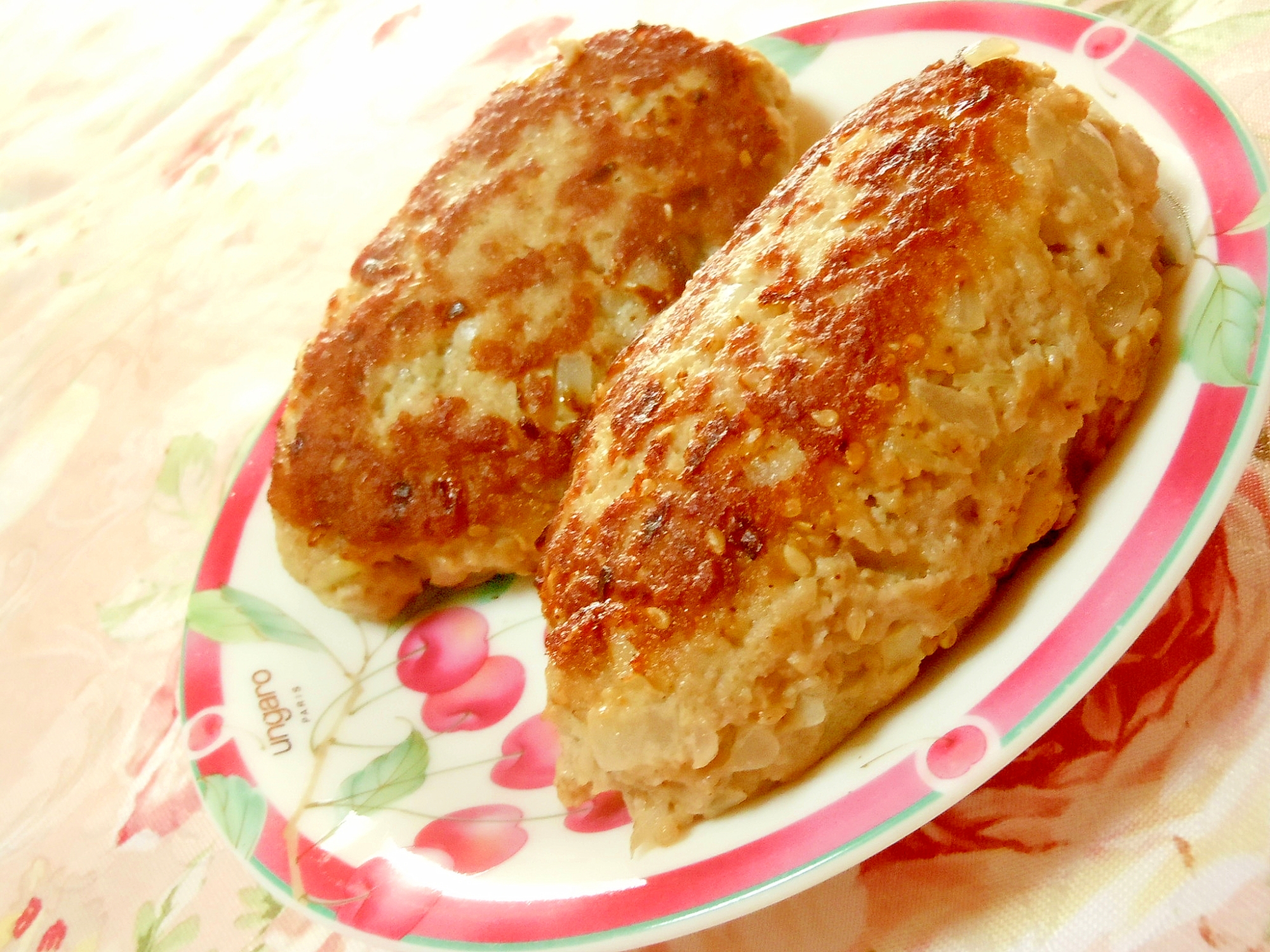 練り胡麻とおからと味噌の胡麻のハンバーグ