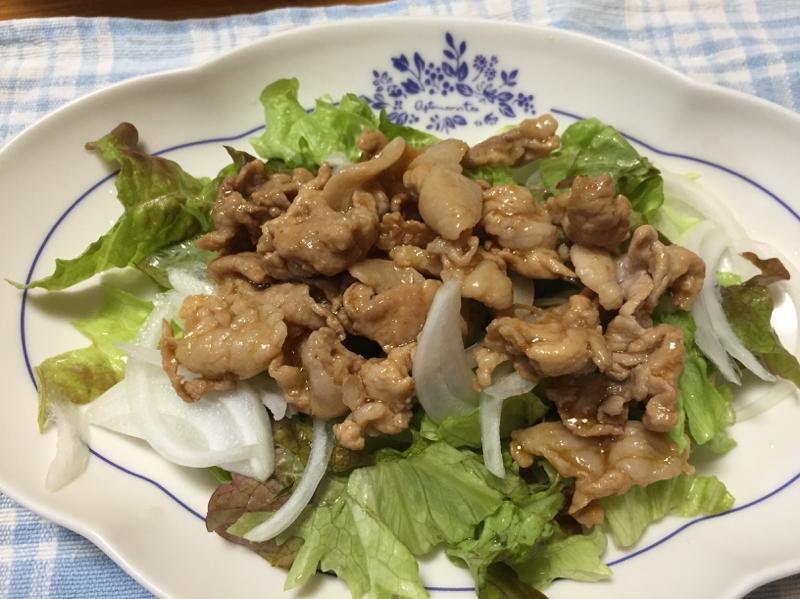 豚肉の辛子醤油サラダ