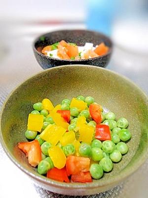 えんどう豆とパプリカのカラフルサラダ