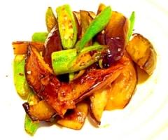 オクラと茄子のピリ辛中華炒め