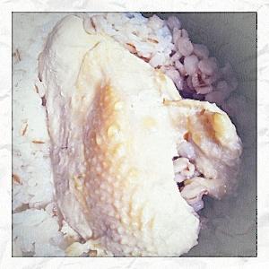 【ズボラ】【ヘルシー】炊飯器の蒸し鶏と炊き込みご飯