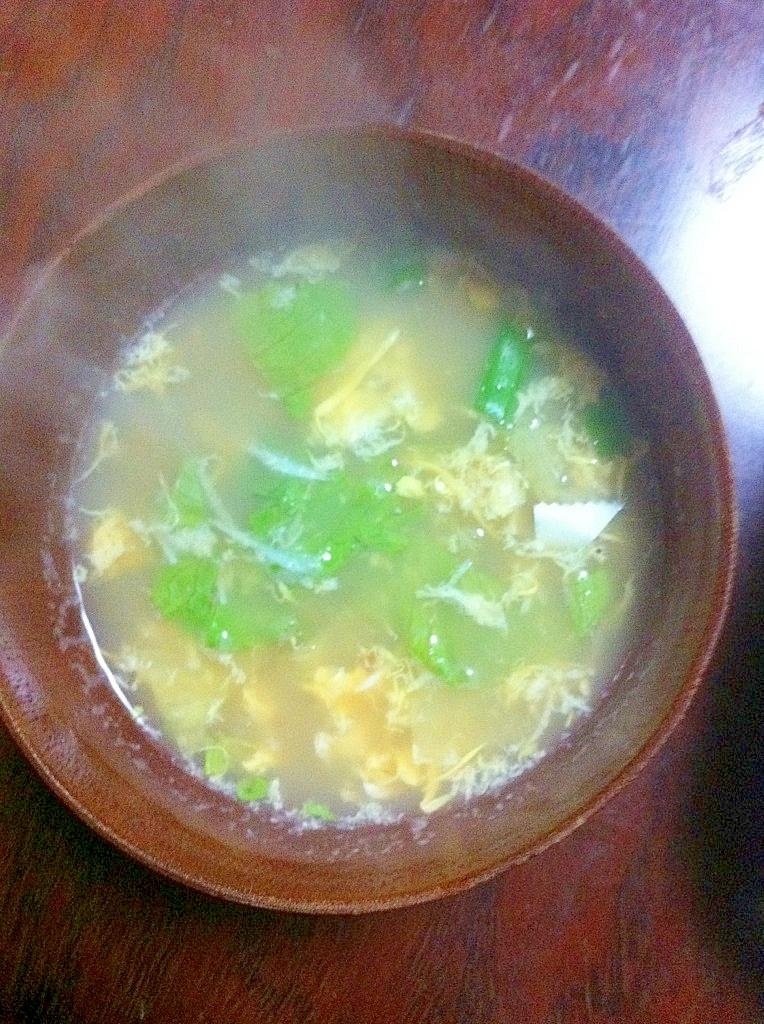 ○蟹が夕食に出た次の日は・・・蟹のだしで蟹スープ○