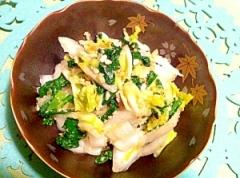 ちょちょいと作れる白菜と小松菜の浅漬け風