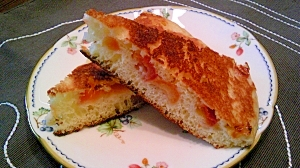 さくらんぼで、ホットケーキ