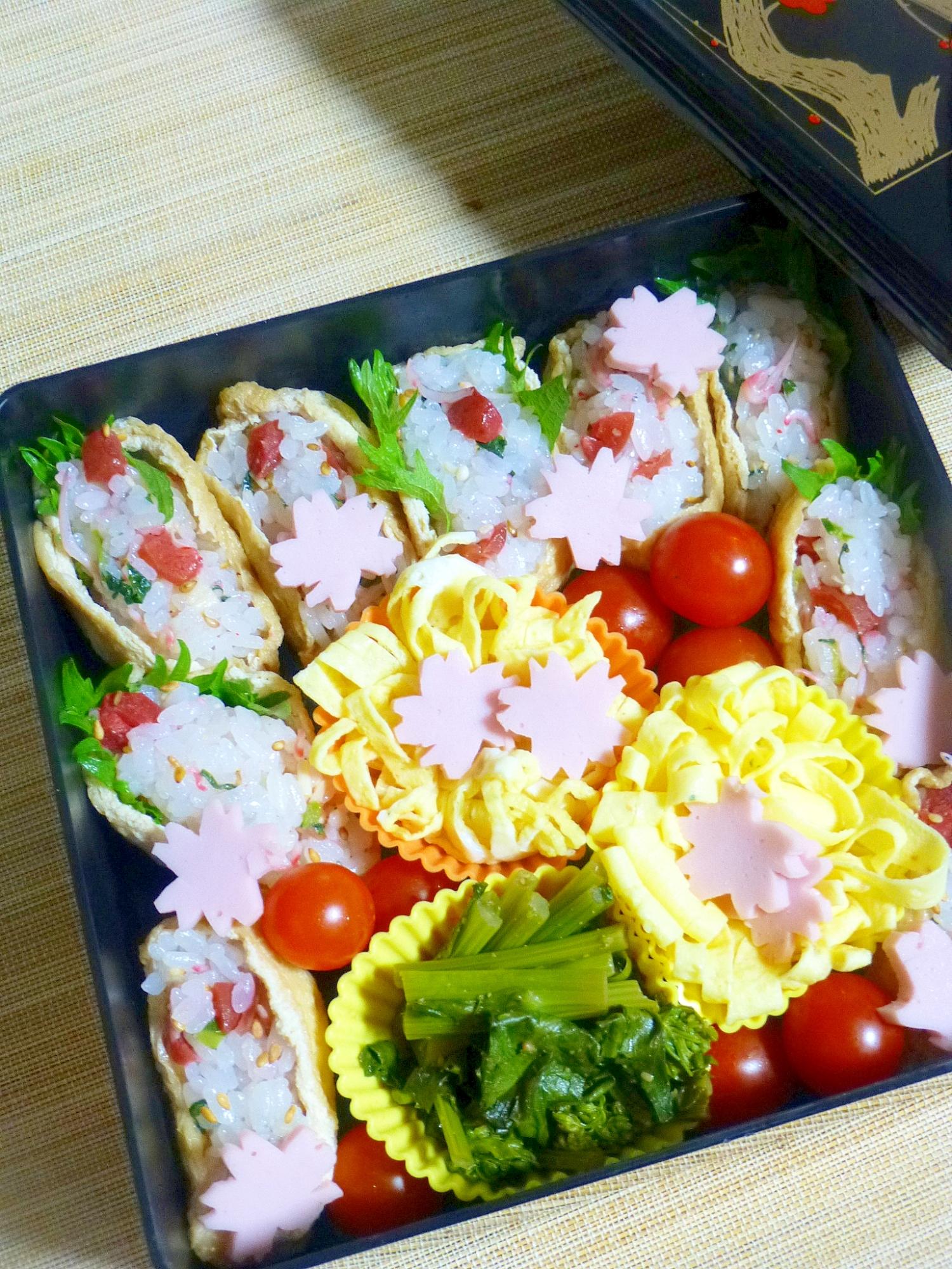 お花見に☆簡単♪いなり寿司弁当
