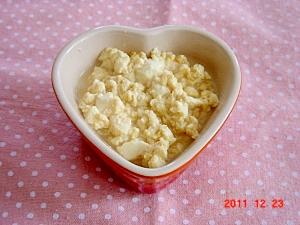 ご飯のおかず♪豆腐と卵の煮物♪