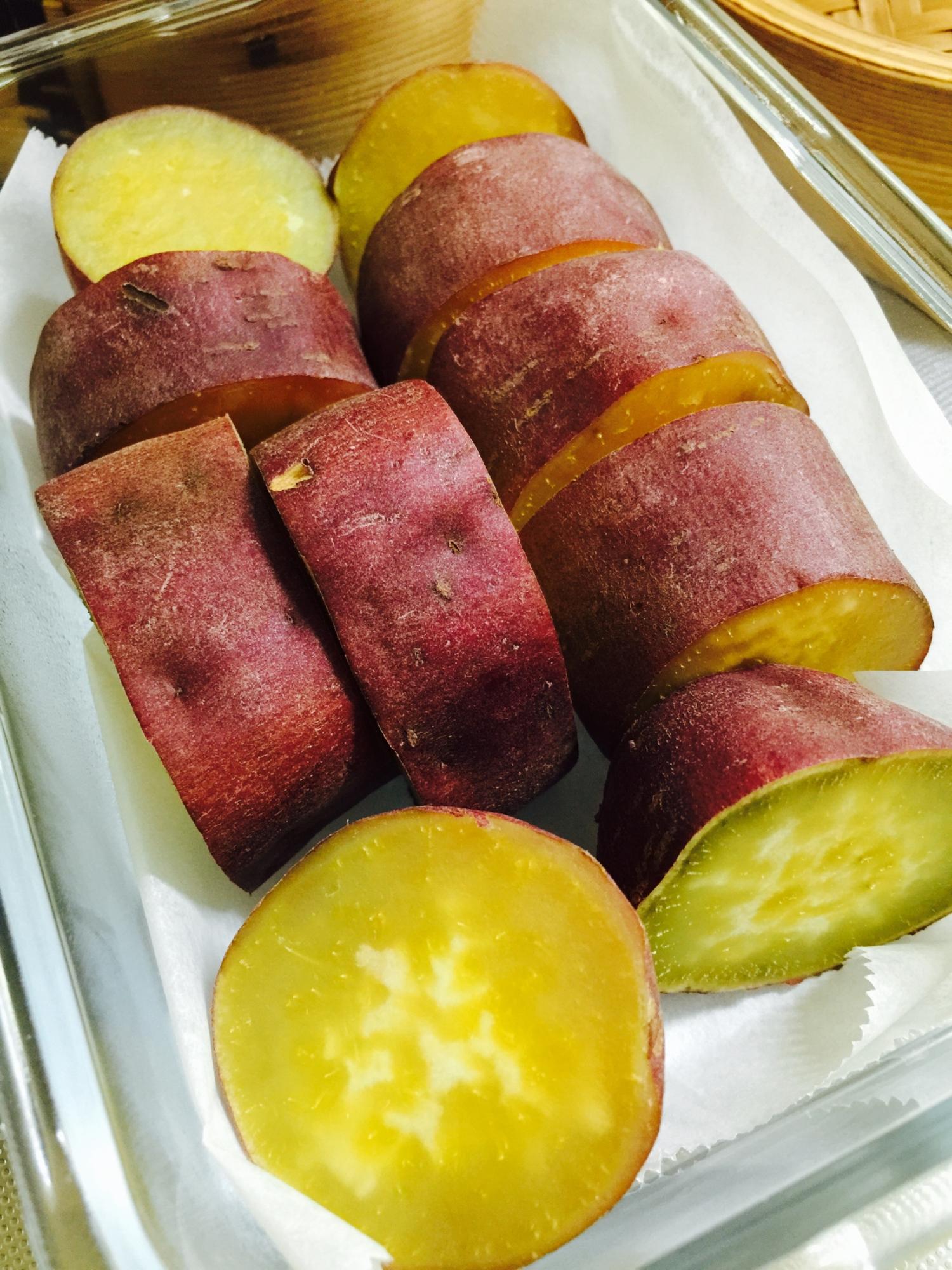 お弁当にあると便利な作り置き!蒸すだけさつま芋 レシピ・作り方 by saori2005|楽天レシピ