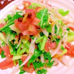 たね菜と豚しゃぶの柚子薫る温野菜サラダ