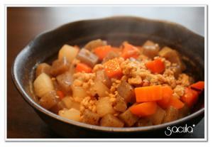 コロコロかわいい★鶏ミンチと大根の煮物