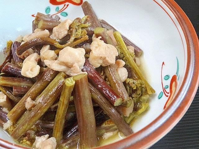 京風お惣菜☆ 「わらびの鶏そぼろ炒め煮」
