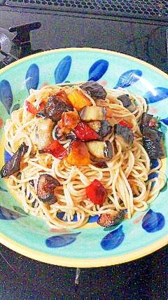 夏野菜ペペロンチーノ