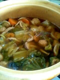 本格的肉団子の鶏鍋