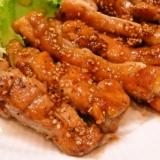 鶏もも肉の胡麻醤油ソテー