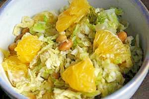 白菜と夏みかんのスパイスマリネ