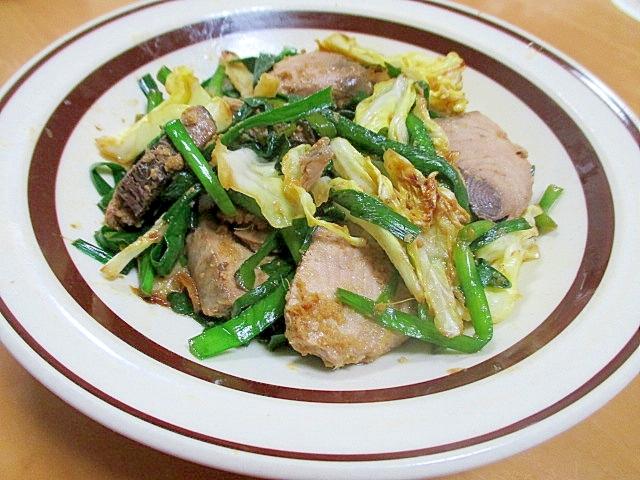 かつおと野菜の生姜ポン酢炒め