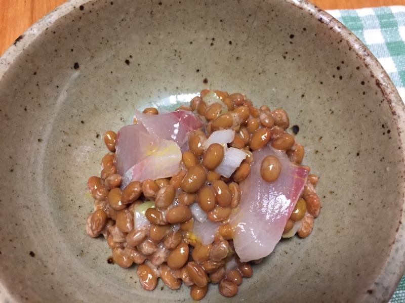 ハマチの納豆和え