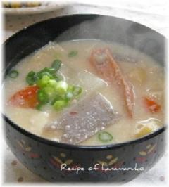 """ほっこりぽかぽか""""鮭の粕汁""""で温まる~♪"""