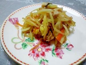 塩麹・醤油de肉野菜炒め
