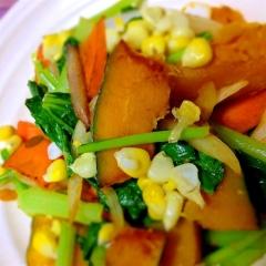 五種彩り野菜のあっさり炒め