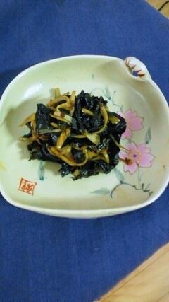 ご飯に、簡単♪葉唐辛子の佃煮の炒め物