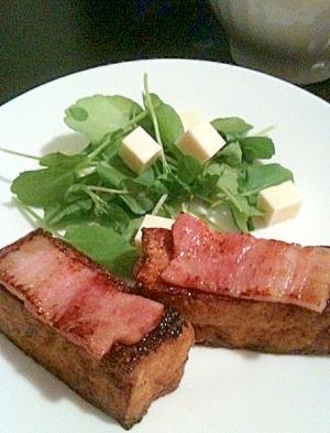 厚揚げ豆腐のステーキ 焦がし醤油味