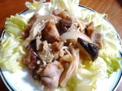 ★鶏ときのこのマヨポン炒め★