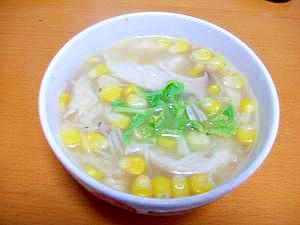 カレー鍋のお掃除に。カレー風味のパスタスープ