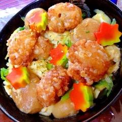 簡単リメイク!ぷたぷた麩入りアレンジ親子丼