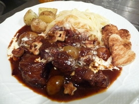 牛肉の赤ワイン煮 ブルゴーニュ風