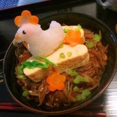 だし巻き卵と根菜きんぴらのほっこり丼