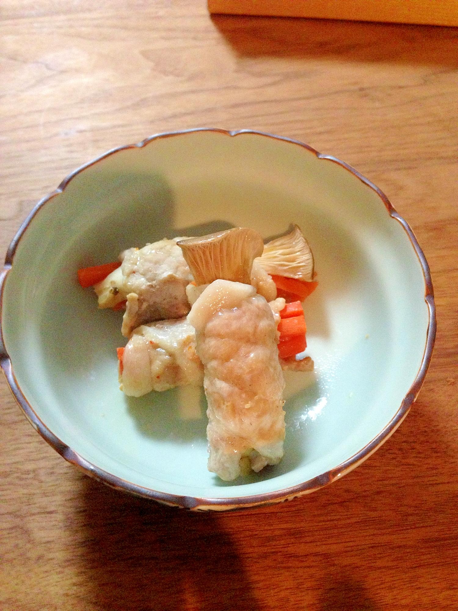 ルクエでエリンギの肉巻 焼肉のタレ風味